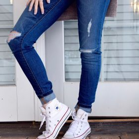 Selected ripped jeans for women
