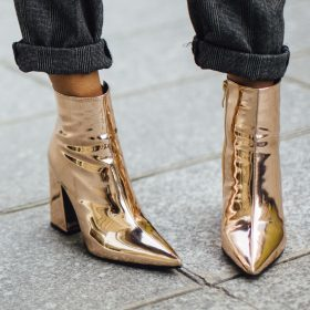 Combine Metallic Shoes - this how you style the trend