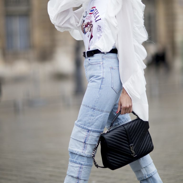 How to style patchwork jeans