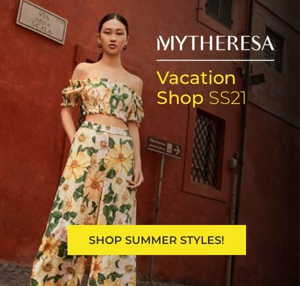 Woman in dress for MYTHERESA