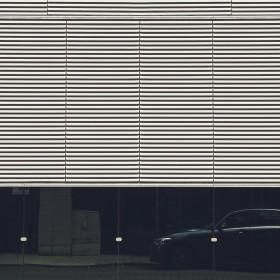Men's Black & White Color Block