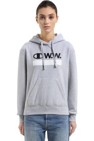 CHAMPION WOOD WOOD HOODED COTTON TERRY SWEATSHIRT