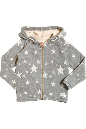 American Outfitters HOODED STARS PRINT COTTON SWEATSHIRT