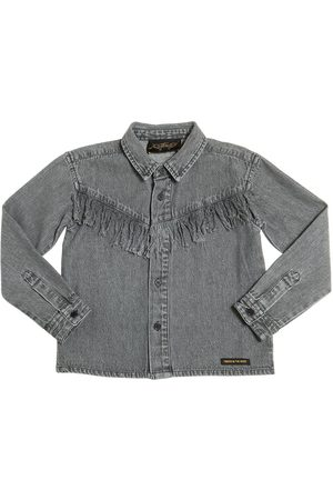 Finger in the Nose COTTON CHAMBRAY SHIRT W/ FRINGE