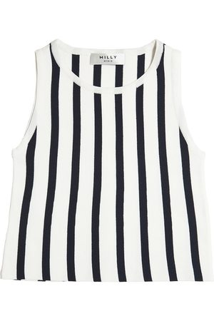 MILLY MINIS STRIPED KNIT TOP