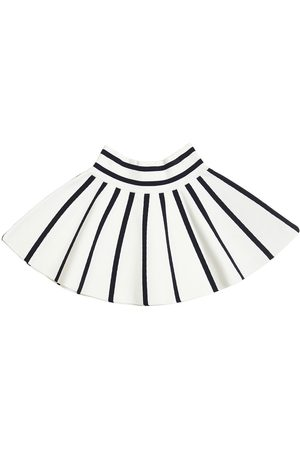 MILLY MINIS STRIPED COTTON BLEND SKIRT