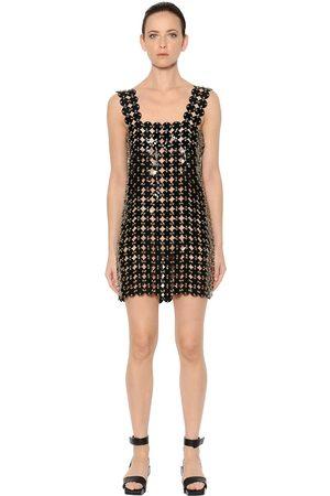 Paco rabanne Soft Plastic & Leather Mini Dress