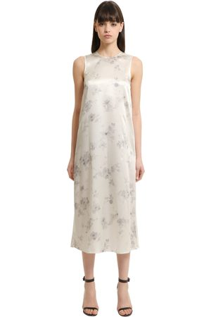 Calvin Klein FLORAL PRINTED SILK DRESS