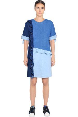 COTTON DENIM PATCHWORK DRESS