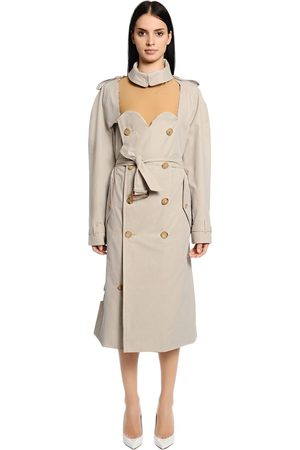 Maison Margiela CUTOUT COTTON GABARDINE TRENCH COAT
