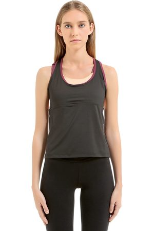 Women Tank Tops - EA7 EMPORIO ARMANI VENTUS TANK WITH BUILT-IN BRA