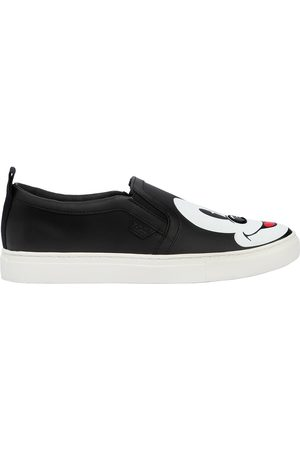 MOA MASTER OF ARTS DISNEY PRINTED LEATHER SLIP-ON SNEAKERS