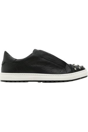 Philipp Plein STUDDED LEATHER SLIP-ON SNEAKERS