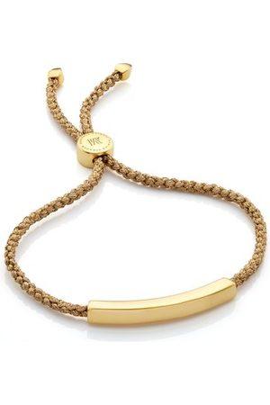 Monica Vinader Linear Friendship Bracelet, Gold Vermeil on Silver