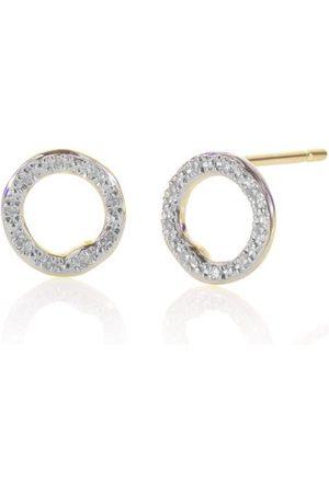 Monica Vinader Gold Riva Diamond Circle Stud Earrings Diamond
