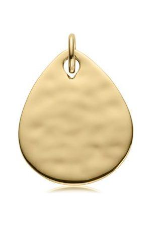Monica Vinader Ziggy Petal Pendant, Gold Vermeil on Silver