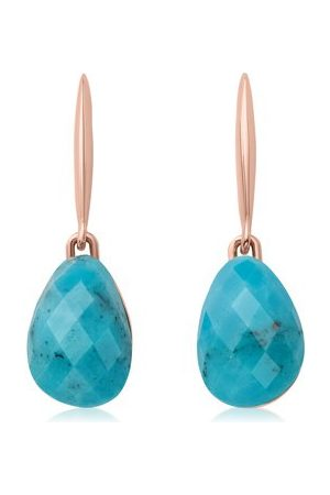 Women Earrings - Monica Vinader Rose Gold Nura Small Teardrop Earrings Turquoise