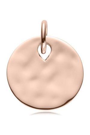 Monica Vinader Ziggy Round Pendant, Rose Gold Vermeil on Silver