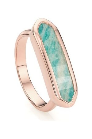Monica Vinader Rose Gold Baja Ring Amazonite