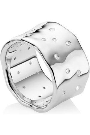 Monica Vinader Sterling Silver Siren Scatter Ring White Topaz