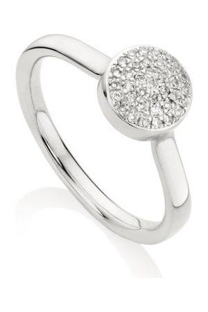 Monica Vinader Fiji Diamond Button Ring, Sterling Silver