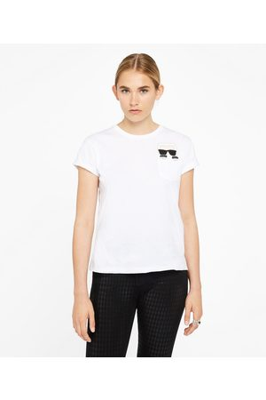 Karl Lagerfeld Women T-shirts - Ikonik Karl Pocket Tee
