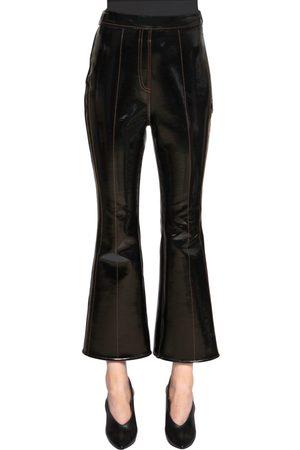 Ellery VINYL & NEOPRENE CROPPED PANTS