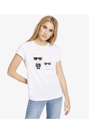 Karl Lagerfeld Women T-shirts - Karl & Choupette Ikonik Tee
