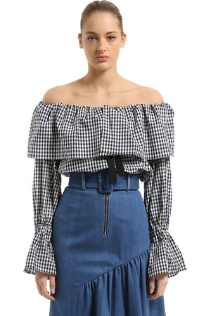REJINA PYO OFF THE SHOULDER COTTON POPLIN BLOUSE