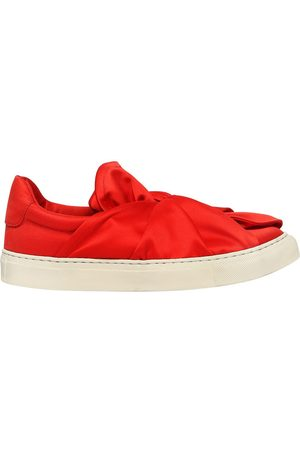PORTS 1961 20MM KNOT SATIN SLIP-ON SNEAKERS