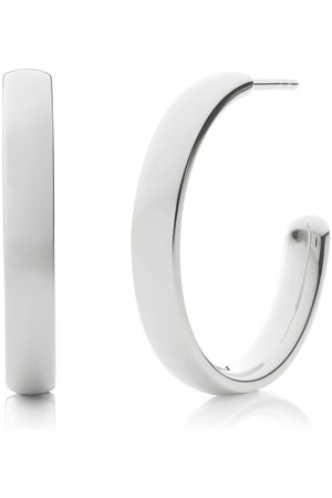 Monica Vinader Women Earrings - Sterling Silver Fiji Large Hoop Earrings