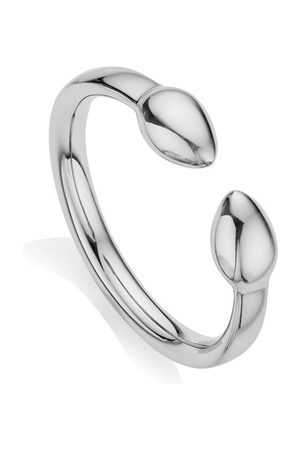 Monica Vinader Sterling Silver Fiji Bud Stacking Ring