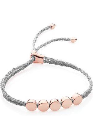 Monica Vinader Rose Gold Linear Bead Friendship Bracelet