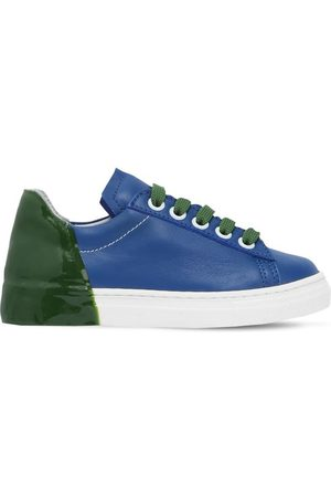 AM 66 RUBBER HEEL COLOR BLOCK LEATHER SNEAKERS