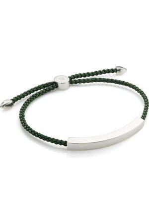 Monica Vinader Sterling Silver Linear Large Men's Friendship Bracelet