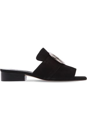 DORATEYMUR 25MM HARPUT SUEDE SLIDE SANDALS