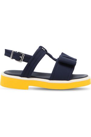 Marni NEOPRENE & LEATHER SANDALS