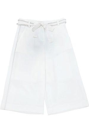 MISS GRANT Girls Wide Leg Pants - Cotton Crepe De Chine Wide Leg Pants