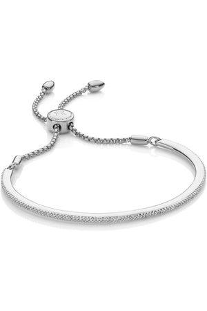 Monica Vinader Sterling Silver Fiji Skinny Bar Friendship Chain Bracelet Diamond