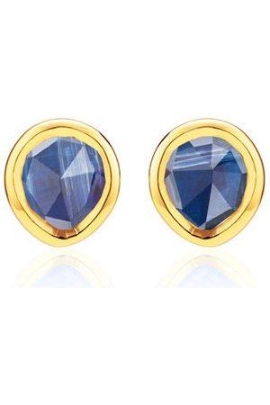 Monica Vinader Women Earrings - Gold Siren Mini Stud Earrings Kyanite