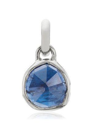 Monica Vinader Women Necklaces - Sterling Silver Mini Siren Bezel Pendant Kyanite
