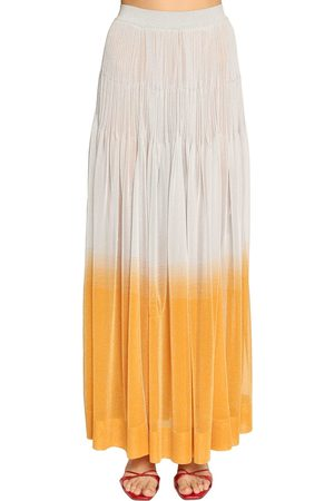 Missoni RUFFLED LAMÉ KNIT MAXI SKIRT