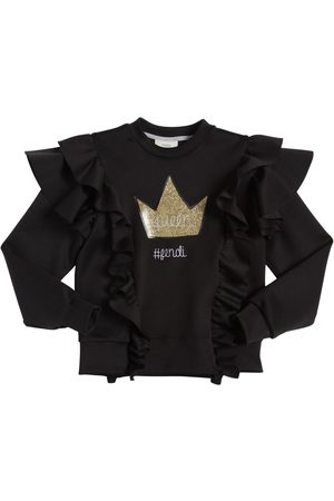 Fendi QUEEN RUFFLED TECHNO SWEATSHIRT