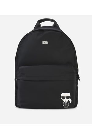 Karl Lagerfeld Rucksacks - UNISEX - K/Ikonik Nylon and Leather Backpack