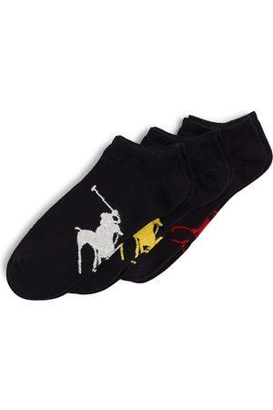 Ralph Lauren Big Polo Player Socks, Pack of 3