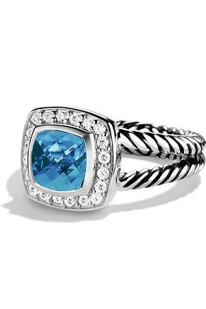 David Yurman Petite Albion Ring with Topaz & Diamonds