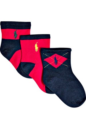 Ralph Lauren Boys' Multi Socks, 3 pack - Baby