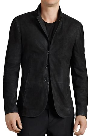 John Varvatos Suede Hook And Bar Slim Fit Jacket