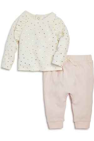 Bloomie's Girls' Heart Print Tee & Jogger Pants Set Baby - 100% Exclusive