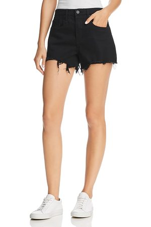 BLANK NYC Raw-Edge Denim Shorts in Night Mania